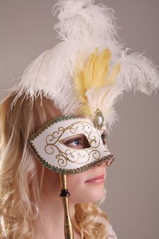 Woman With Mask Royalty Free Stock Photos