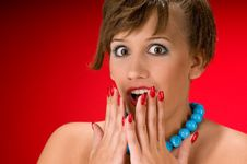 Free Surprised Young Woman Royalty Free Stock Photography - 7952767