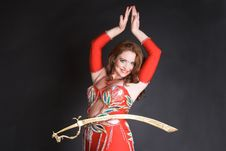 Free Belly Dancer Balancing Sword Stock Photography - 7953052