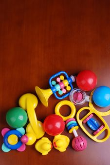 Free Infant Rings And Colorful Balls Royalty Free Stock Photography - 7953207