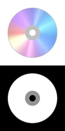 Free Isolated Laser Compact CD DVD Disc Royalty Free Stock Photography - 7953227