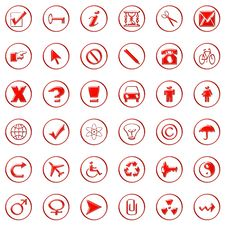 Free Web Icons Stock Photos - 7953313