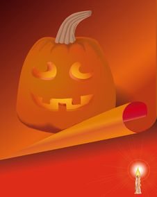 Free Pumpkin-lantern In A Holiday Halloween Royalty Free Stock Photos - 7953338