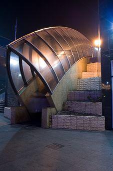 Free Escalators By Night In Poland Stock Photo - 7953370