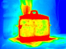 Free Thermograph- Boiling Pot Royalty Free Stock Photography - 7953527