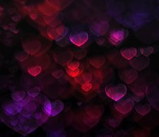 Free Abstract Background Heart Royalty Free Stock Image - 7954136