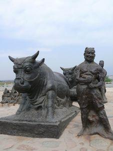 Free China S Yellow River In Shanxi Yongji Tieniu Stock Images - 7954404