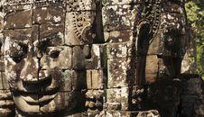 Free Stone Sculpture In Bayon Wat,Siem Reip,Cambodia Royalty Free Stock Photo - 7954705