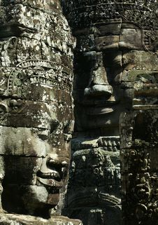 Free Cambodia Smile Of Bayon Wat,Siem Riep Royalty Free Stock Photos - 7954868