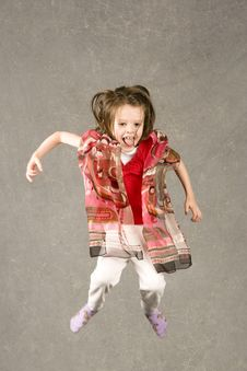 Free Little Girl Leaping Into Air Royalty Free Stock Photography - 7955137
