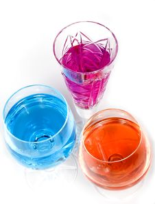 Three Wineglass Stock Images