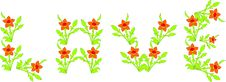 Free Word Love Laid Out From Flowers. Royalty Free Stock Photos - 7955878