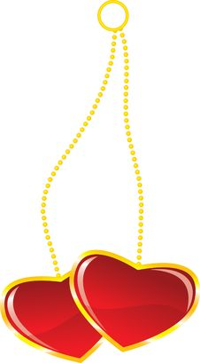 Free Two Hearts On Chains Stock Photo - 7956270
