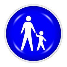 Free Web Button - Family Royalty Free Stock Photo - 7956355
