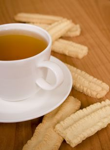 Cup Of Tea And Some Cookies Royalty Free Stock Photography