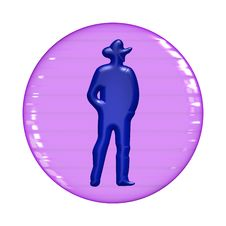 Free Web Button - Cowboy Royalty Free Stock Images - 7956499