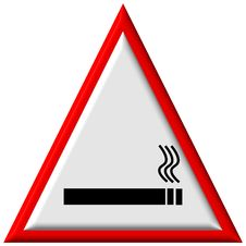 Warning Sign - No Smoking Stock Image