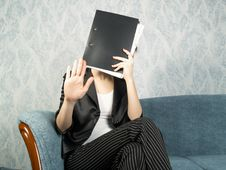 Free Businesswoman At Office Stock Image - 7956541