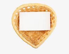Heart-shaped Basket Royalty Free Stock Photo