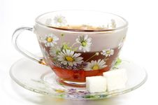 Free Tea Cup On A Saucer Royalty Free Stock Photo - 7956595