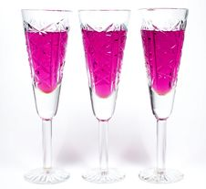 Three Wineglass Royalty Free Stock Photo