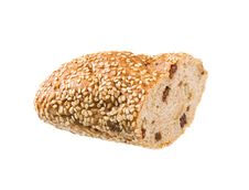 Free Piece Of Bread With Raisins Isolated Royalty Free Stock Photos - 7956708