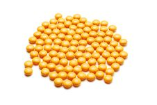 Free Yellow Pills Stock Image - 7956771