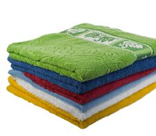 Free Color Towels Royalty Free Stock Photo - 7956825