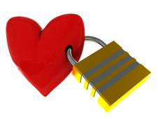 Free Locked Heart Royalty Free Stock Photos - 7956948