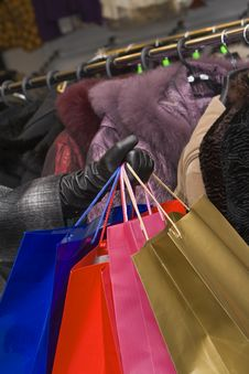 Clothes Shopping Royalty Free Stock Photo