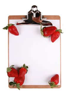 Free Strawberries On Clipboard Stock Photography - 7957512