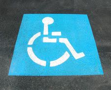 Free Handicap Parking Sign Royalty Free Stock Photography - 7957607