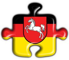 Free Lower Saxony Button Flag Puzzle Shape Royalty Free Stock Photo - 7957685