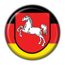 Free Lower Saxony Button Flag Round Shape Royalty Free Stock Photography - 7957687