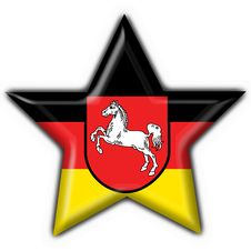 Free Lower Saxony Button Flag Star Shape Royalty Free Stock Image - 7957696