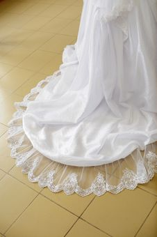 Free Loop Of A Wedding Dress On A Floor. Stock Photos - 7957743