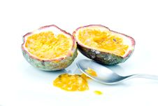 Free Passion Fruit With Spoon Stock Photo - 7957870