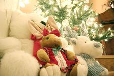 Free Stuffed Animal Christmas Stock Images - 7957954