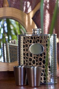 Free Decorated Hipflask Stock Images - 7958094