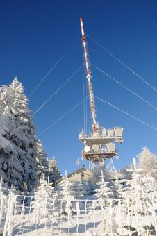Free Transmitting Station In Winter No.1 Stock Image - 7958131