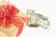 Buying Gifts With Cash Royalty Free Stock Image