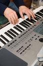 Free The Musician Plays A Synthesizer. Stock Photos - 7961813