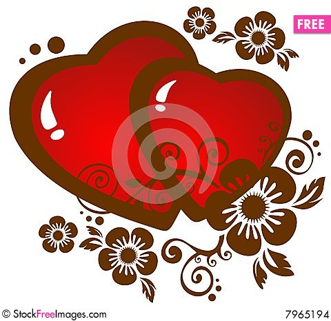 Hearts With Flowers - Free Stock Photos & Images - 7965194 ...