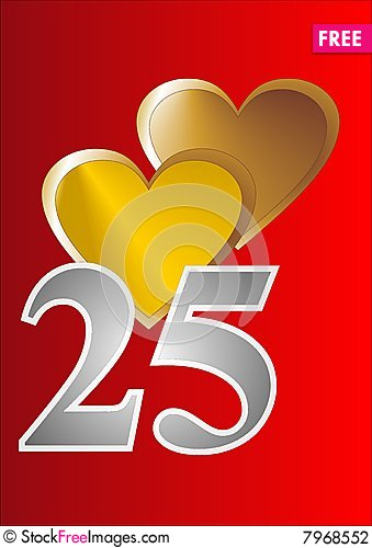 free 25th anniversary cards