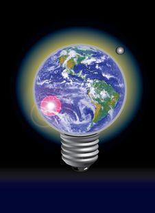 Earth Lamp Royalty Free Stock Photo