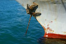 Free Rusty Anchor And Chain Stock Images - 7961424