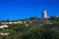 Greece Lighthouse Royalty Free Stock Photo