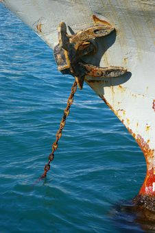 Free Rusty Anchor And Chain Stock Photo - 7961560