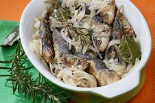 Free Anchovies With Spice Vegetable Stock Images - 7962264