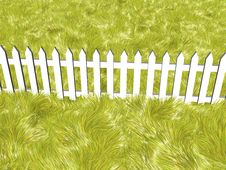 Free Fence On A Summers Day Royalty Free Stock Photos - 7962408